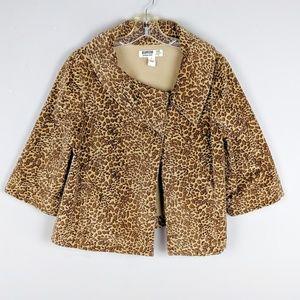 Vintage | Cropped Leopard Print Jacket